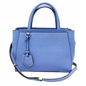 FENDI Blue  Roma Petite 2Jours Shoulder Bag